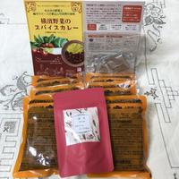 [ご自宅用ゴミ減量商品] 横濱野菜のスパイスカレー200g 6個 とスパイスティーセット