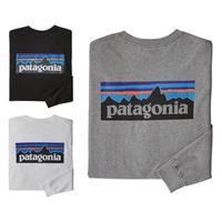 (パタゴニア)Patagonia Mens Long Sleeved P-6 Logo Responsibili-Tee