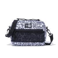 (ニューエラ)NEW ERA ショルダーポーチ ラージ 2L Keith Haring キース・へリング ホワイト オールオーバープリント