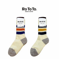 (ロトト)RoToTo COARSE RIBBED OLDSCHOOL SOCKS