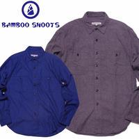 (バンブーシュート)BAMBOO SHOOTS  Solid Flannel Work Shirt