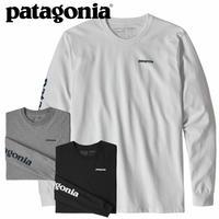 (パタゴニア)Patagonia Mens Long Sleeved Text Logo Responsibili-Tee