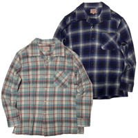 (ビッグマイク)BIG MIKE LIGHT WEIGHT OPEN COLLAR SHIRT