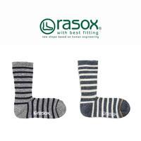 (ラソックス)RASOX コットン・ボーダー・クルー