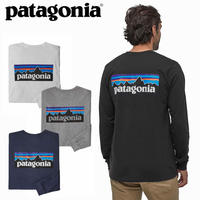 (パタゴニア)Patagonia Mens Long Sleeved P-6 Logo Responsibili-Tee