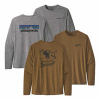 (パタゴニア)Patagonia Mens Long Sleeved Cap Cool Daily Graphic Shirt