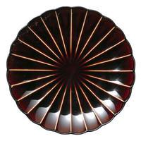 3-950 ぎやまん陶 八寸皿 漆ブラウン