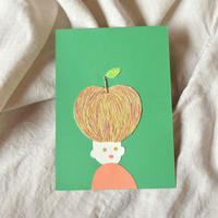 【貼り絵】apple head (edition1)