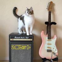 またたびロックンロール ギターアンプ ブラック(爪とぎ)2個セット