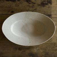 林拓児 貫入楕円皿(豆)