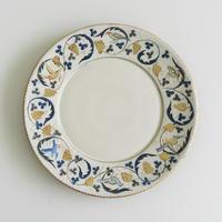 升たか 色絵鳥葡萄紋9寸皿 43