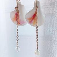 undulate   draw    petal  (pierce   earring)