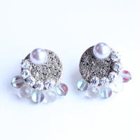 en tsubu bubble silver ピアス
