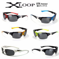偏光 レンズ スポーツ サングラス X-LOOP 578 ゴルフ 釣り ランニング 6色