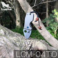 Luchs(ルークス) チタン ハンドル ミニ アクセサリー フォールディングナイフ ダマスカスブレード LCM-04TiD