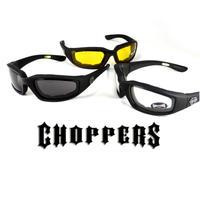 【2個セット】Choppers パッド付 バイクゴーグルサングラス型  2個セット