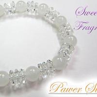 天然石 パワーストーン レディース ブレスレット 水晶×ホワイトオニキス(10)