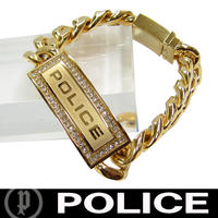 POLICE ポリス ブレスレット ストーン付き LOWRIG (Y)