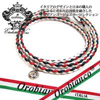 日本製 Orobianco オロビアンコ ブレスレット レザー 編み込み アクセサリー (419)
