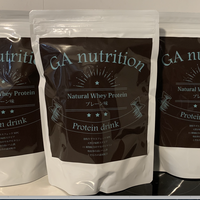 GA nutrition Natural Whey Protein  プレーン味 500g × 3
