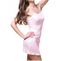 (MAYUDAMAシルク)シルク スリップ トリコットシルク 100% インナー キャミソール レディース シンプル ベーシック 選べるサイズ <ピンク>