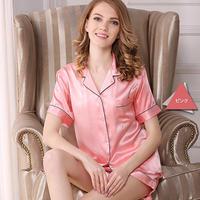 (MAYUDAMAシルク)贅沢シルク100% シルク パジャマ レディース 夏 半袖 前開き 上下セット 2ピースセット 知的でエレガント ルームウェア <ピンク>