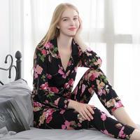 (MAYUDAMAシルク)シルク パジャマ ルームウェア ツーピース ストレッチ ゆったりフィット 長袖 快適 快眠 暖か保湿 レディース 大きなサイズ 選べるサイズ・カラー <紅花>