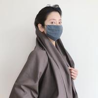 マスク WPCOCOON 総シルク結城紬(男女兼用)
