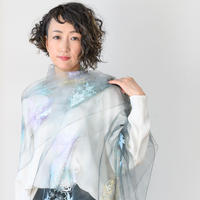 ストール 天女の羽衣 花丸文様/パステル