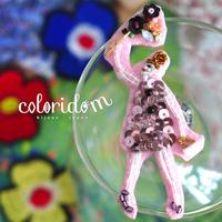 フラワーガール Flower girl  | ビーズブローチ hand made beads brooch