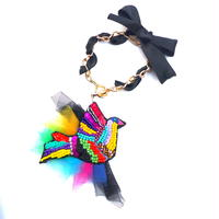 colorful bird | ビーズチャーム&ブローチ hand made beads charm&brooch