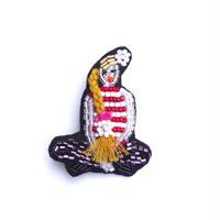 三つ編みの女の子 French braid | ビーズブローチ hand made beads brooch