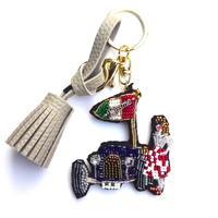 ヒストリックカーガール historic car girl  | ビーズキーホルダー hand made beads charm
