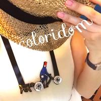 自転車ガールと犬 with my dog | チョーカー hand made beads choker