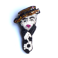 Mr.hat(ミスター・ハット)  | ビーズブローチ hand made beads brooch