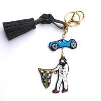 チーム・ブガッティ  | ビーズキーホルダー hand made beads charm