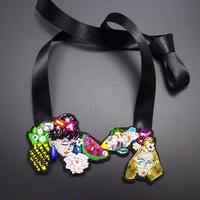 モンリーたち in my dream   チョーカー hand made beads choker