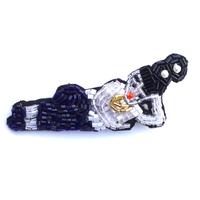 横たわる少女 in the early afternoon | ビーズブローチ hand made beads brooch