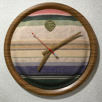"【送料無料・サンプル】 MB7r WALL CLOCK TEAK ""OLD LINEN"""