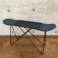 "MADE BY SEVEN -REUSE- ORIGINAL SKATE DECK STOOL ""Crushed Leather"" BLACK"