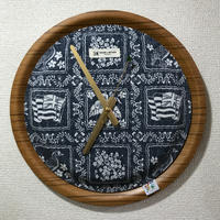 "【送料無料・サンプル】 reyn spooner×MB7r WALL CLOCK TEAK ""LAHAINA SAILOR NAVY"""