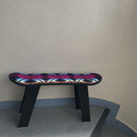 "【サンプル】PENDLETON×MB7r SKATE DECK STOOL ""COYOTE BUTTE NAVY"" BLACK WOOD BASE"