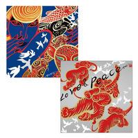 45cm角:【MCB451602】Ki-Yan 「鳩」(メガネ拭き・めがね拭き)