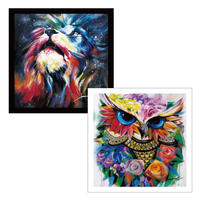 45cm角:【MCB451803】JASMINE  「LION&OWL」(メガネ拭き・めがね拭き)