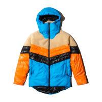 Nylon and Boa Combi Puffed Jacket