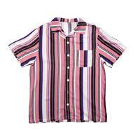 Open Collar Striped Shirt