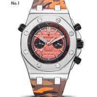KIMSDUN メンズ 自動巻腕時計 ラバーストラップ カラバリ9色
