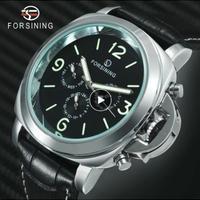 FORSINING 自動巻腕時計 ルミノールスタイル 裏スケモデル レザーバンド