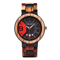 BOBO BIRD メンズ クォーツ腕時計 木製腕時計 44mm