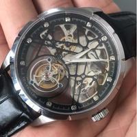 GUANQIN トゥールビヨンスタイルグチン メンズ腕時計 スケルトン